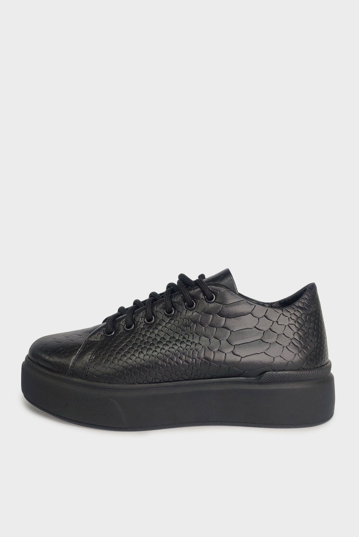 Кеды из кожи рептилии Air Step black