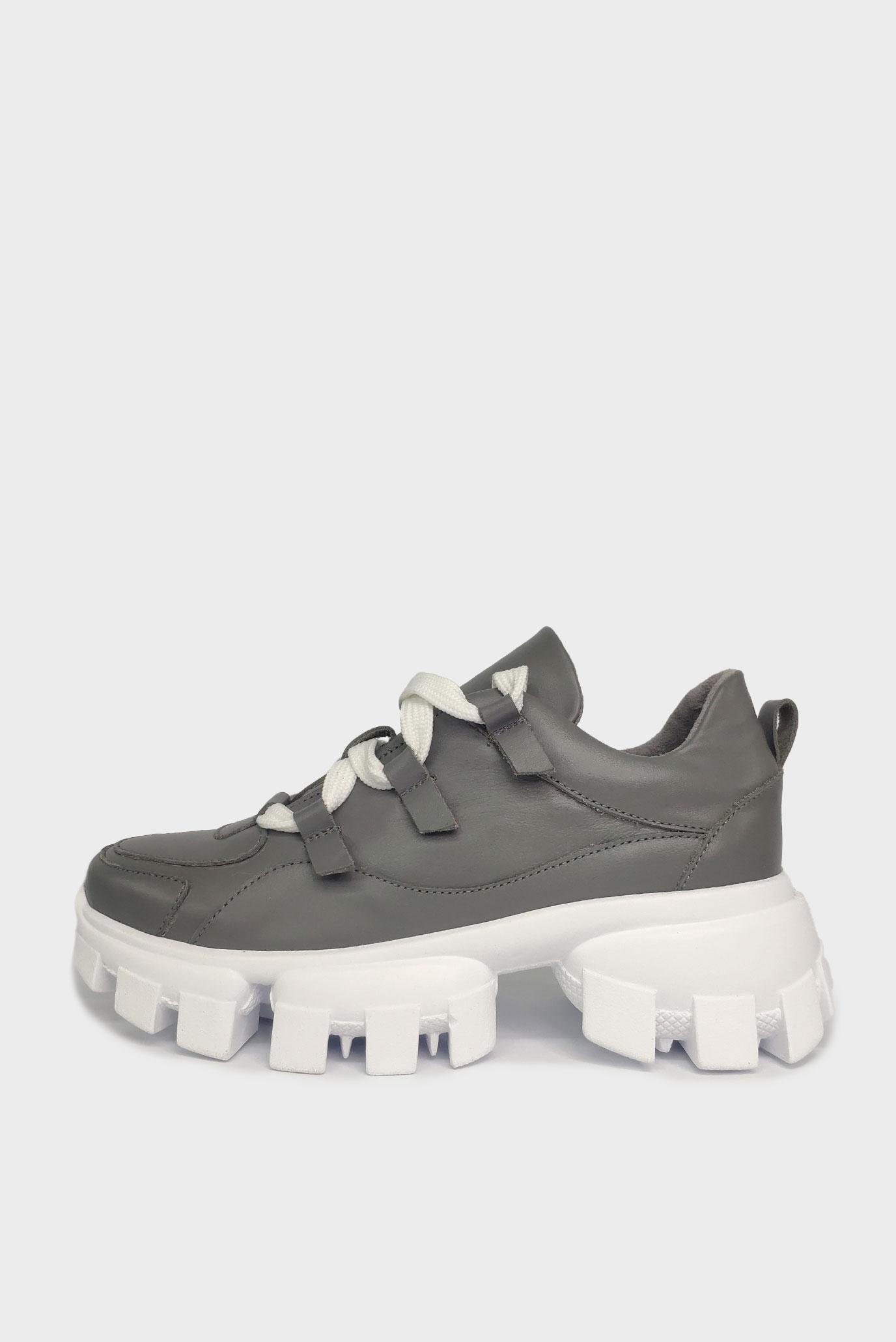 Серые кроссовки из кожи Air Step