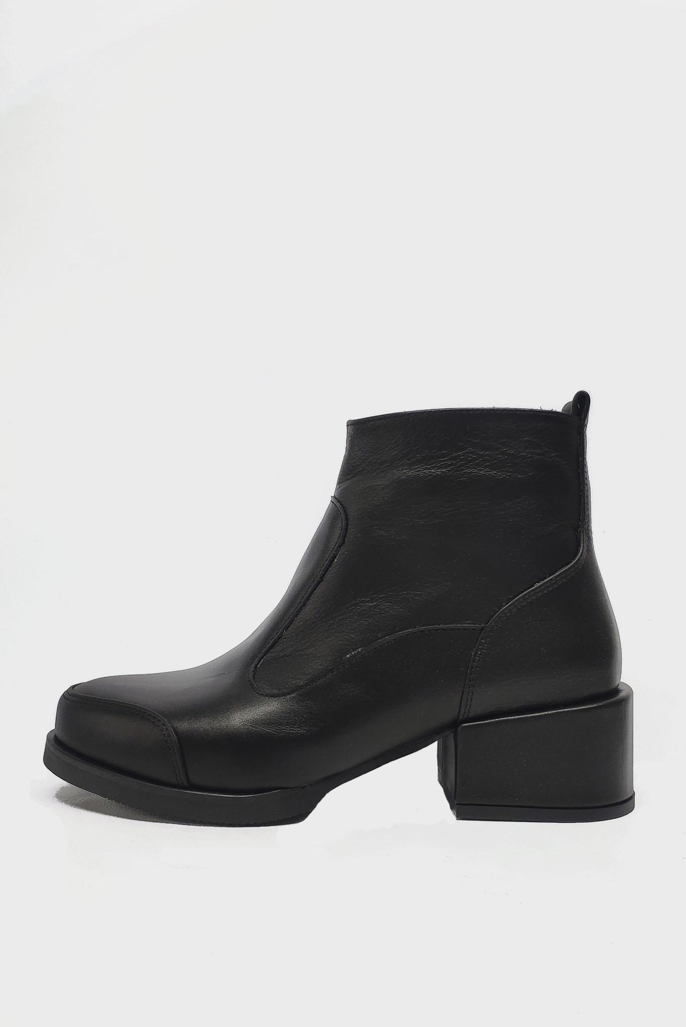Черные кожаные Ботинки Air Step