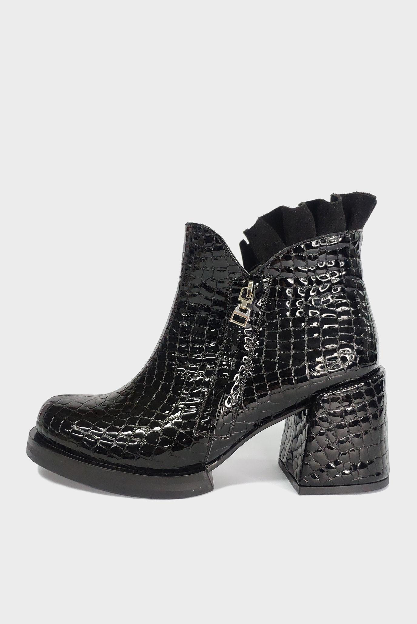 Ботинки черные из натуральной кожи Air Step