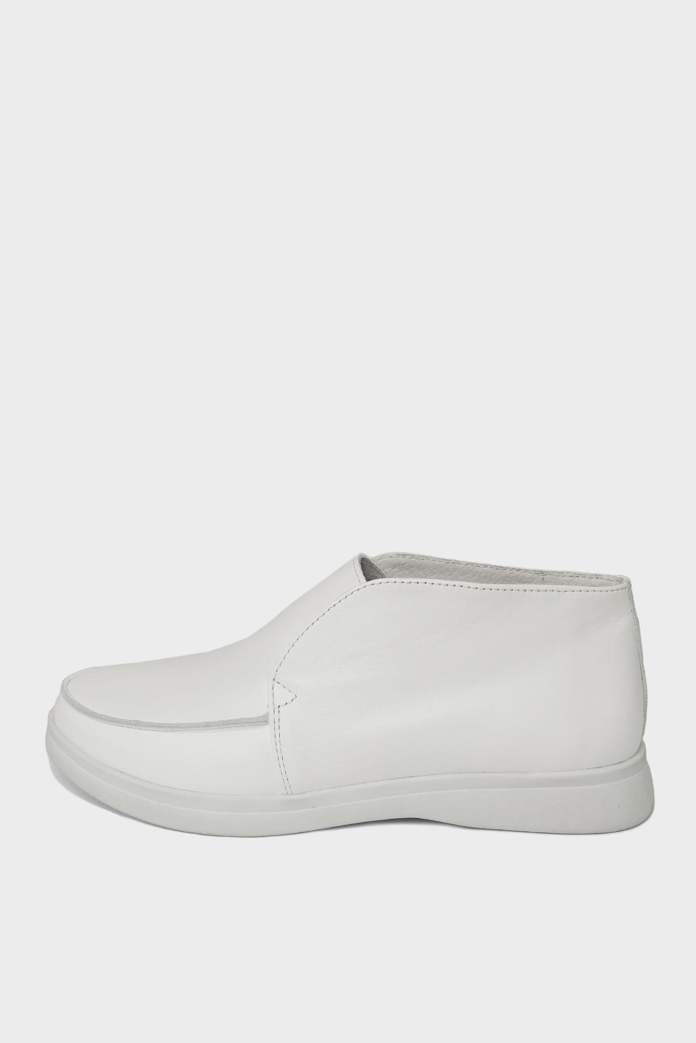 Лоферы белые из натуральной кожи Air Step