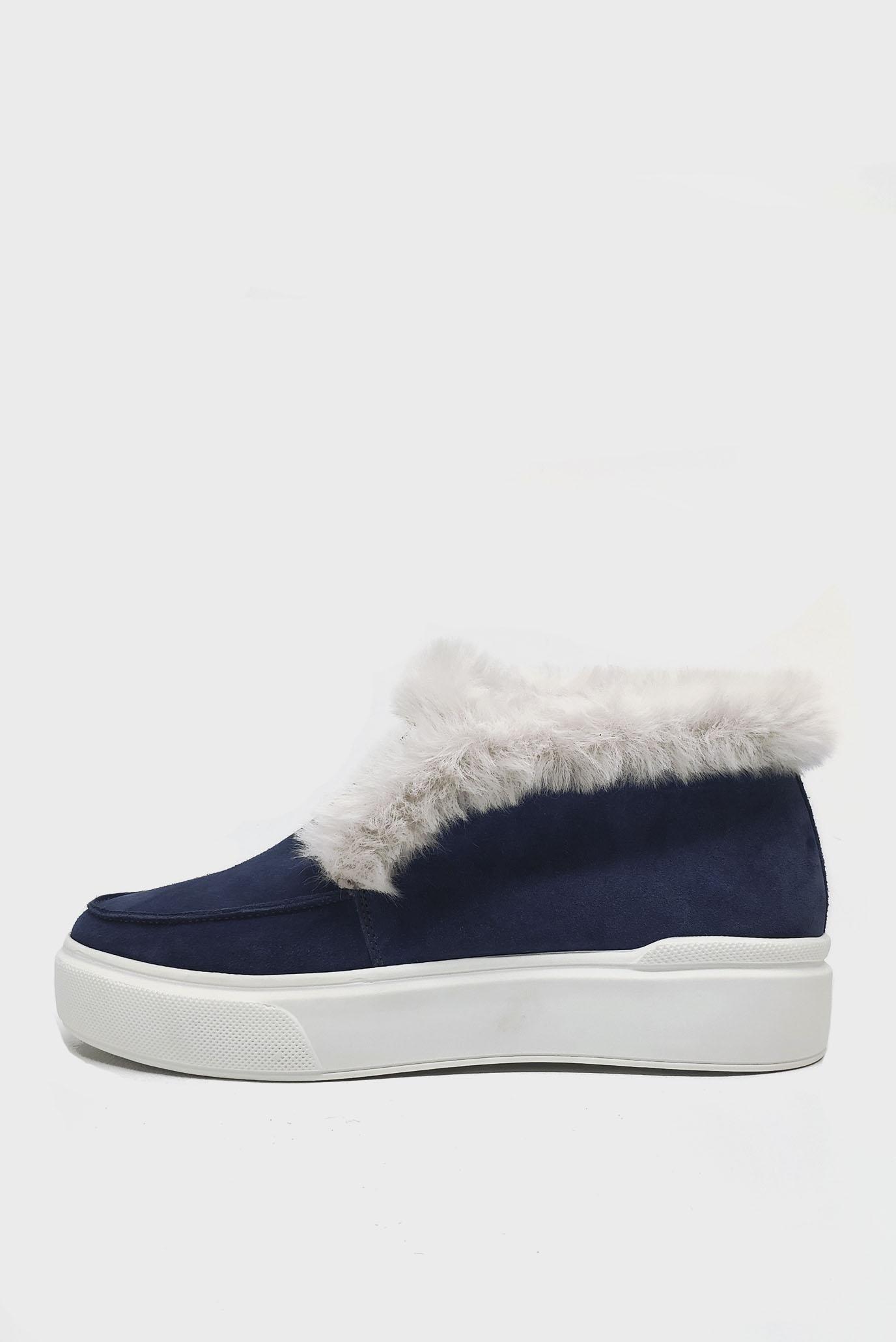 Синие Лоферы зимние на меху Air Step