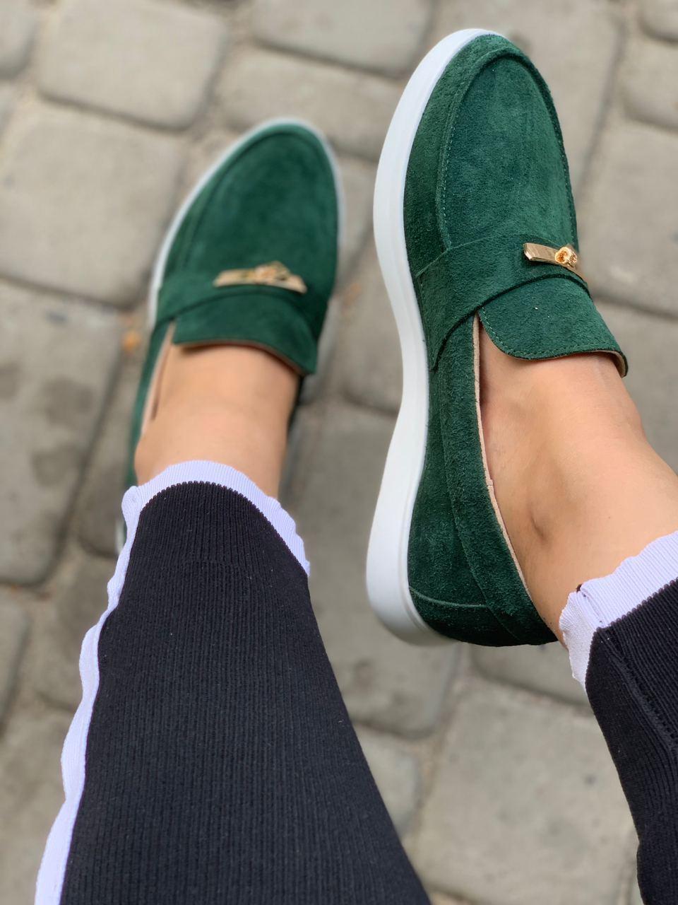 Зеленые Лоферы Air Step