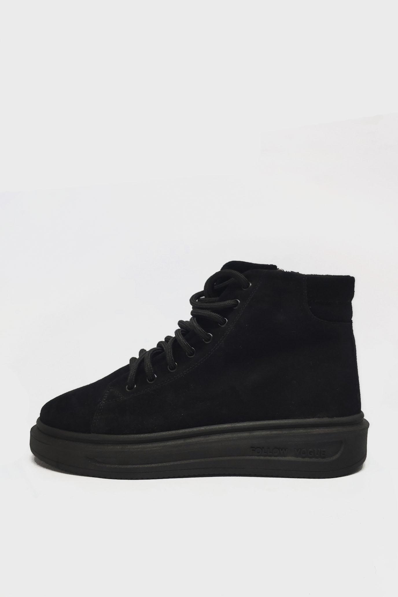 Черные Ботинки из замши Air Step